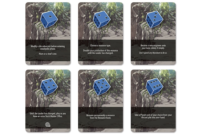 Blue Player Cards - Only the Leader can play the special effect