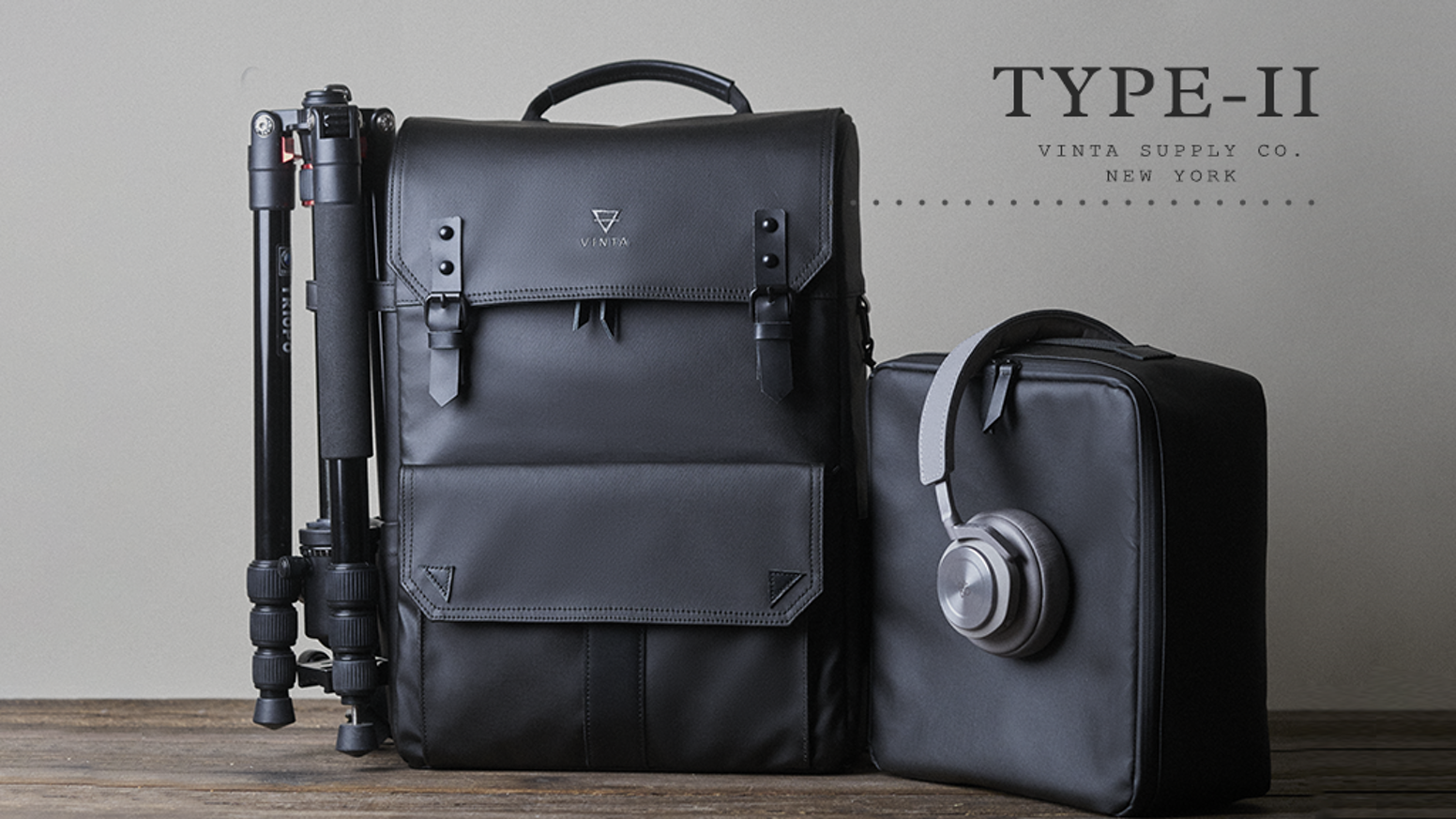 Our Type II Backpack -  This bag is perfect for a lifestyle of adventure, trekking to and from the studio, the office or the mountains.