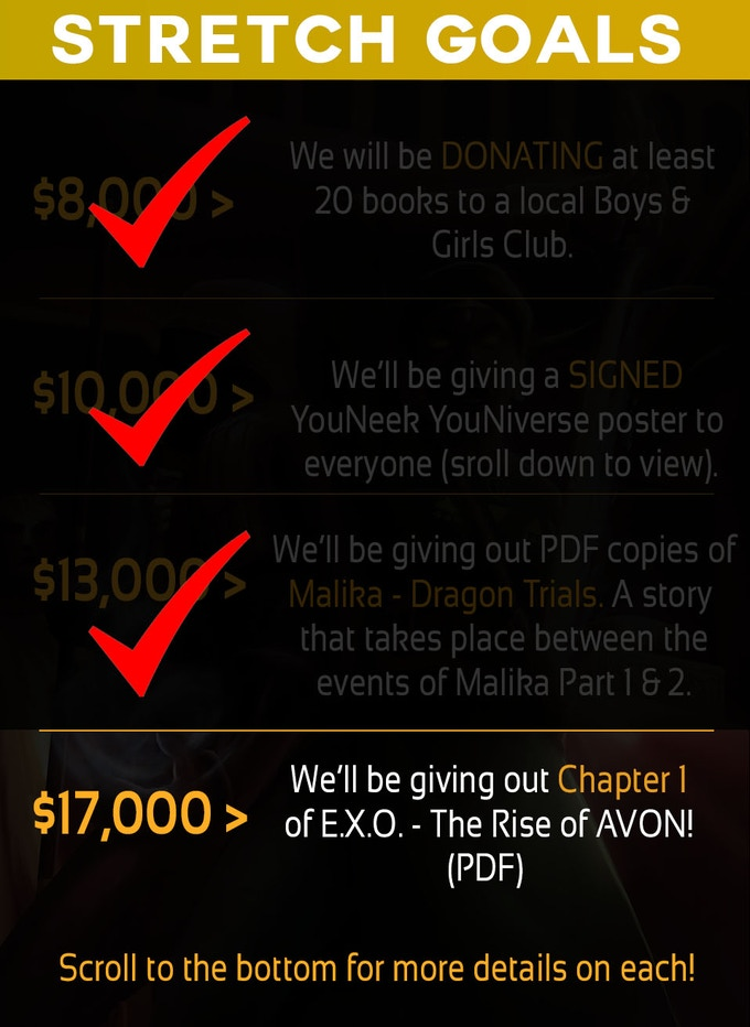 Scroll all the way down for additional details on each stretch goal!