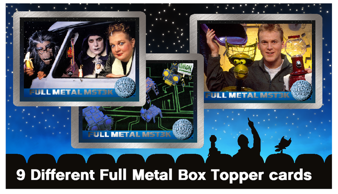 9 Different Full Metal Box Topper cards to collect (examples)