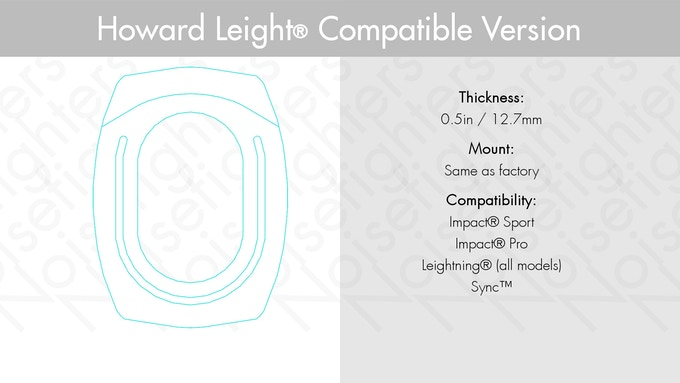 Howard Leight compatible cushions have this front profile.