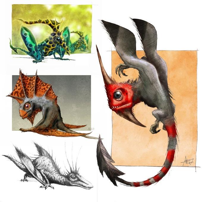 drawings of dragons sketchbook by andy frazer kickstarter
