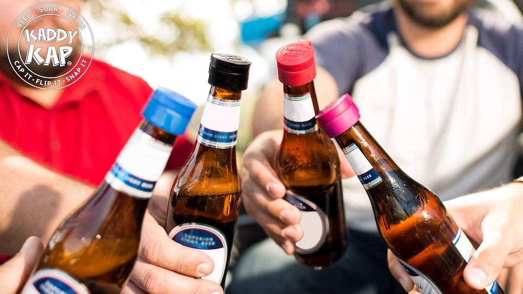 Kaddy Kap | Reusable Flip Top Bottle Cap | Beer Soda Water