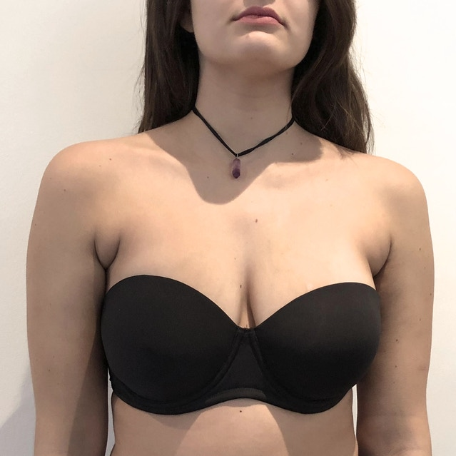 78d1563ce6eb0 We are fitting on a 36 D model in order to make sure our cup has the proper  support women need. See pictures below on our fit model.