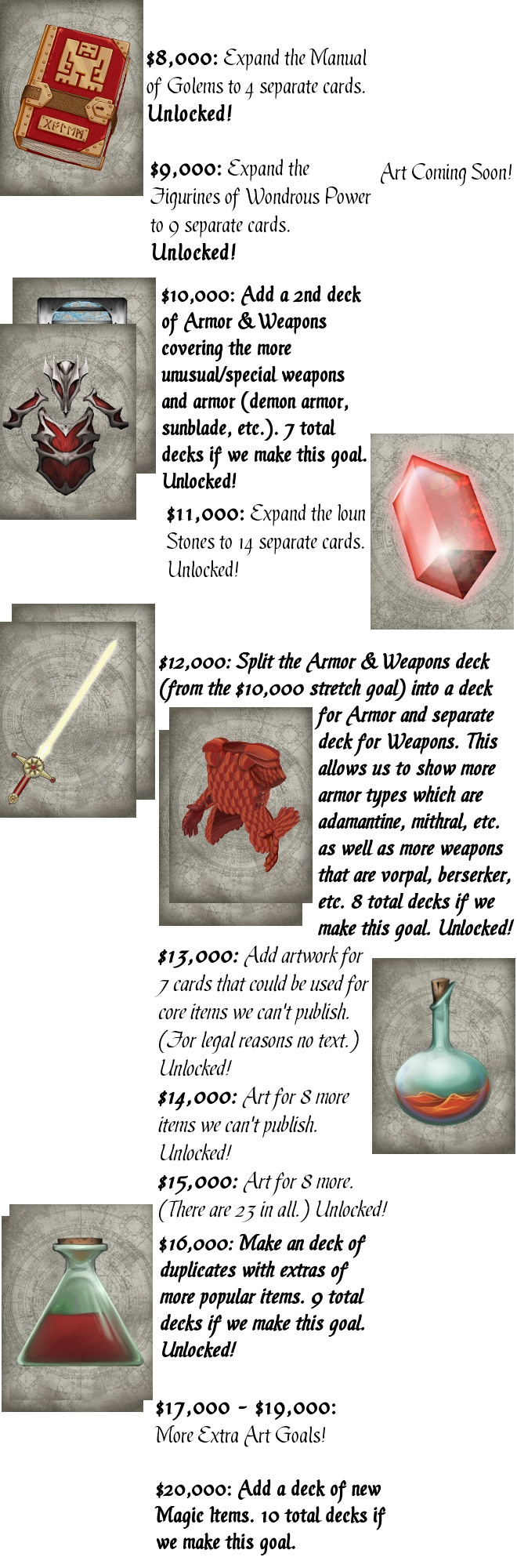Magic Item Card Catalog: 5e Fantasy Reference Cards by