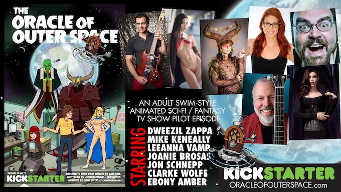 Dweezil Zappa, Mike Keneally, LeeAnna Vamp, Jon Schnepp (Metalocalypse & Space Ghost Coast To Coast), Clarke Wolfe, Joanie Brosas, and Ebony Amber