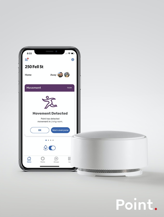 Point combines sound with environmental sensor data and machine learning to detect anything out of the ordinary in your home.