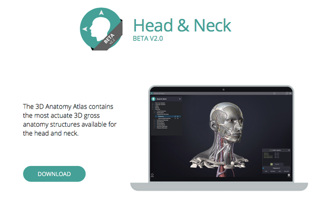 Head & neck anatomy: a book with 3d augmented reality by sandis.