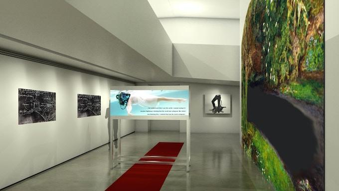 OPHELIA (rendering) at Museum/Collection SCHAUWERK in Sindelfingen, Germany (solo exhibition, 2018)