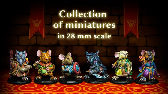 Mouse Adventure by Cartoon Miniatures