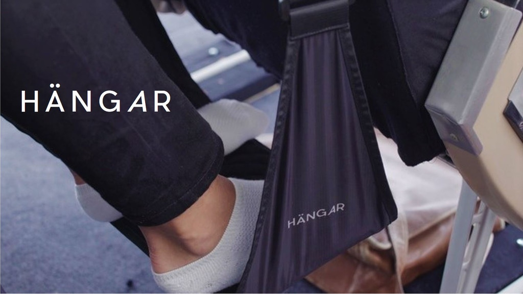 HÄNGAR - The worlds most comfortable travel footrest project video thumbnail