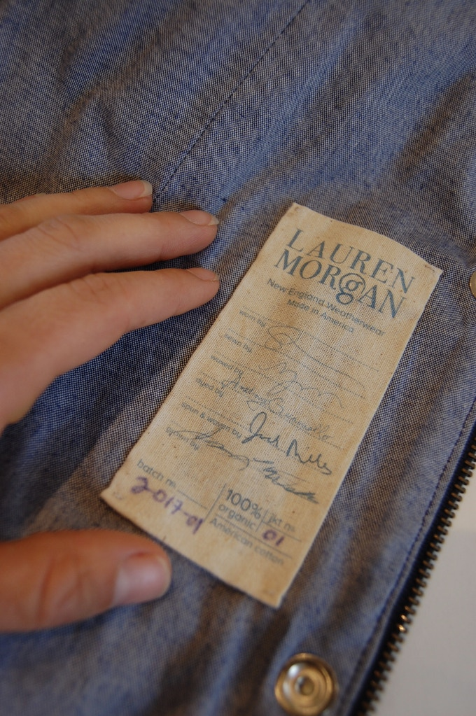 Our chain of custody labels are signed by the makers of the canvas.