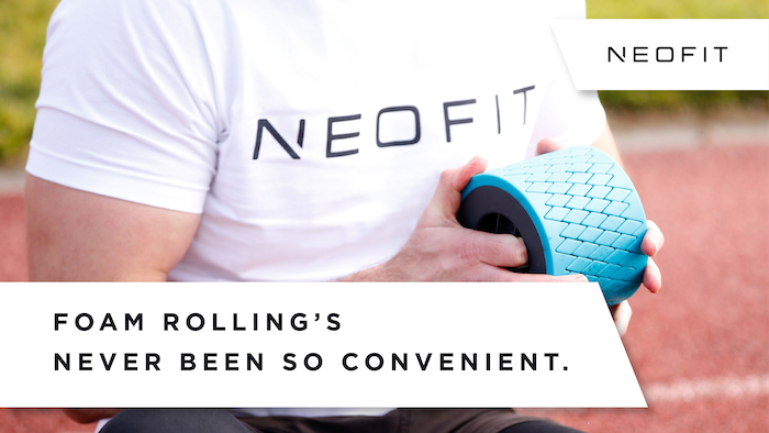 The world's most compact, convenient and travel-friendly foam roller. Be fit. Anywhere.