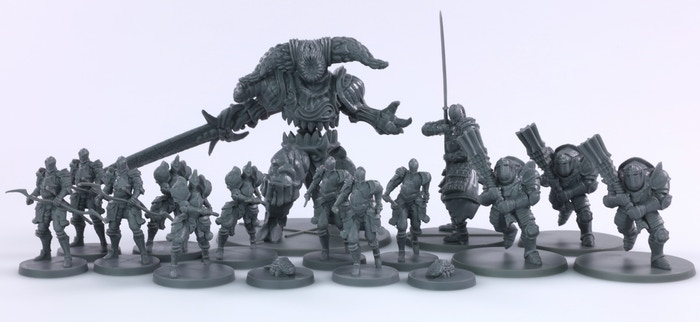 Iron Keep Production Models.