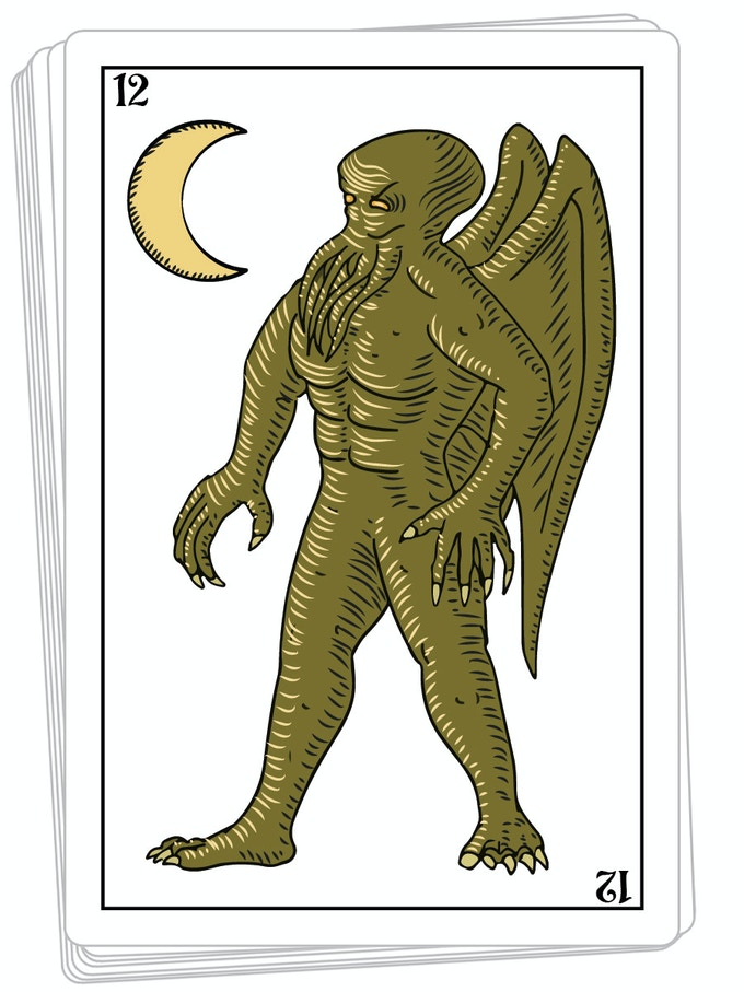 Cthulhu in the moon card 12
