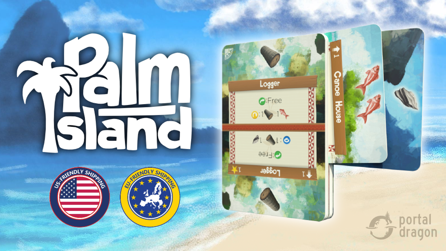 Take your island with you. Play anywhere with this portable deck transformer game.