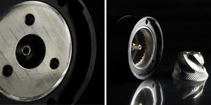 Inner and Outer burr fit perfectly flush with perfect grinding teeth alignment