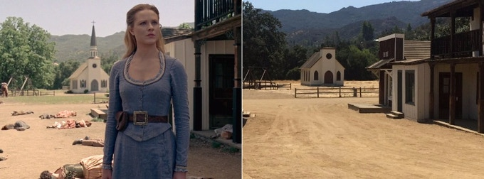LEFT: HBO's Still from Westworld RIGHT: Our Still from Location Scout