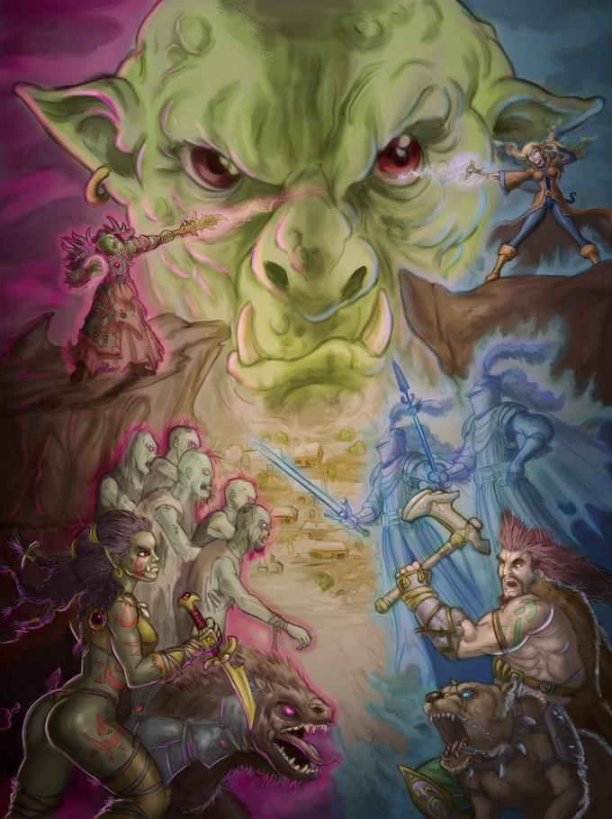 The Arym Forest Wars Cover Artwork. Illustrated by Gaspar Sabater.