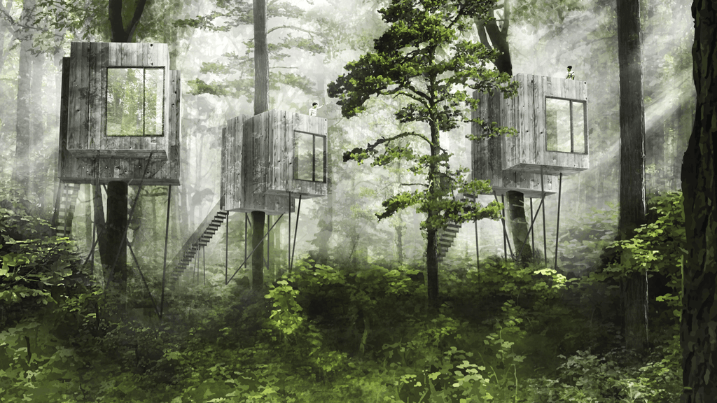 Løvtag: Treetop cabins in the woods