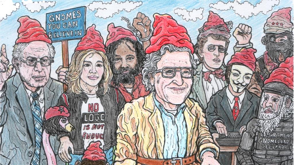 Gnome Chomsky the Garden Noam - the Coloring Book!