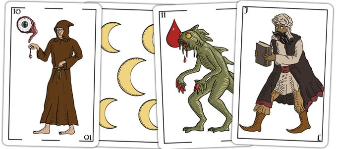 Innsmouth cards from the spanish style