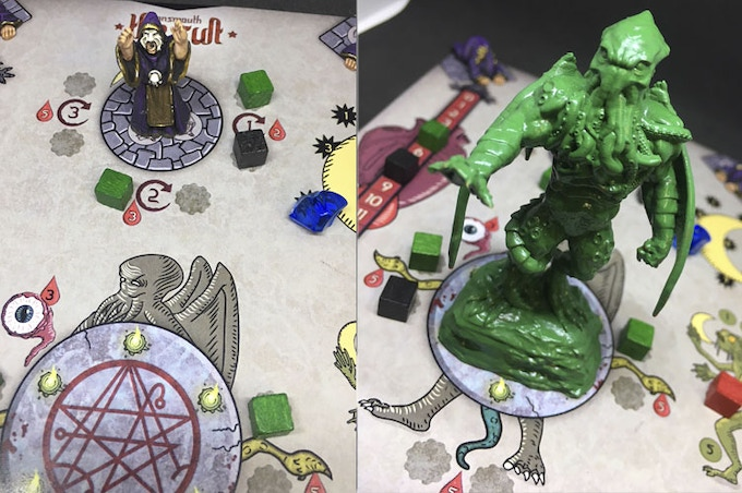 Deluxe edition with cultists (unpainted) and Cthulhu