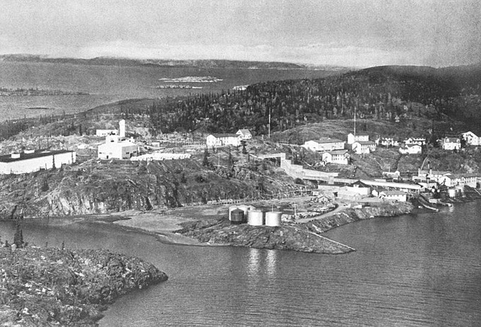 Port Radium in the 1940's (public domain image)