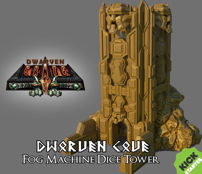 Fog Dice Tower For Dice Collectors And Tabletop Gamers By