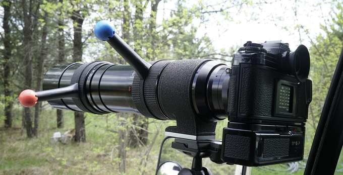 Tom Martin's wildlife photography setup for extreme weather use.