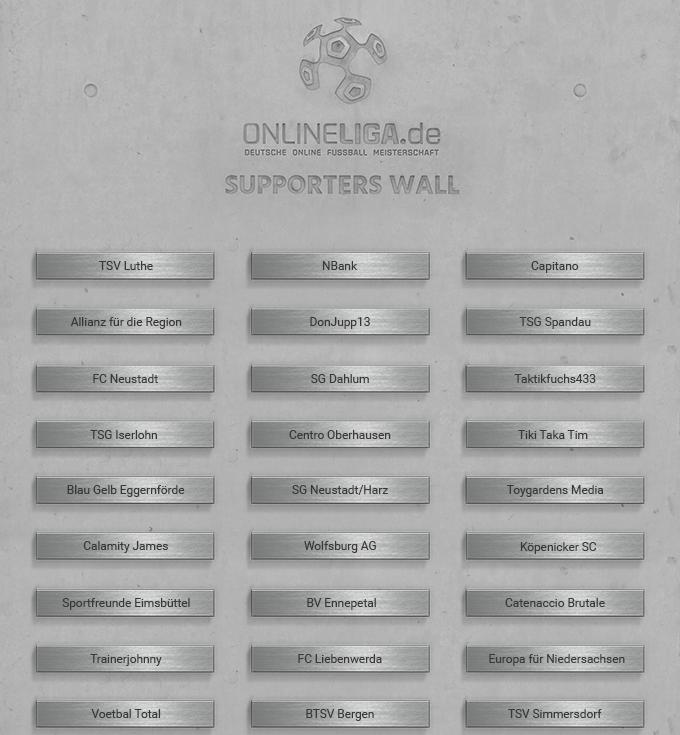 ONLINELIGA.de - SUPPORTERS WALL - Sie haben Fußballgeschichte geschrieben