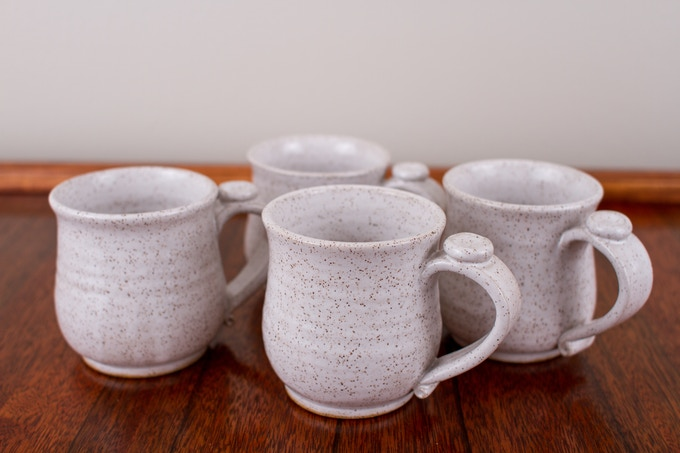 Set of small mugs for $60 pledge