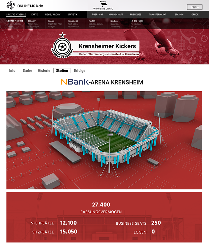Die NBank-Arena Krensheim
