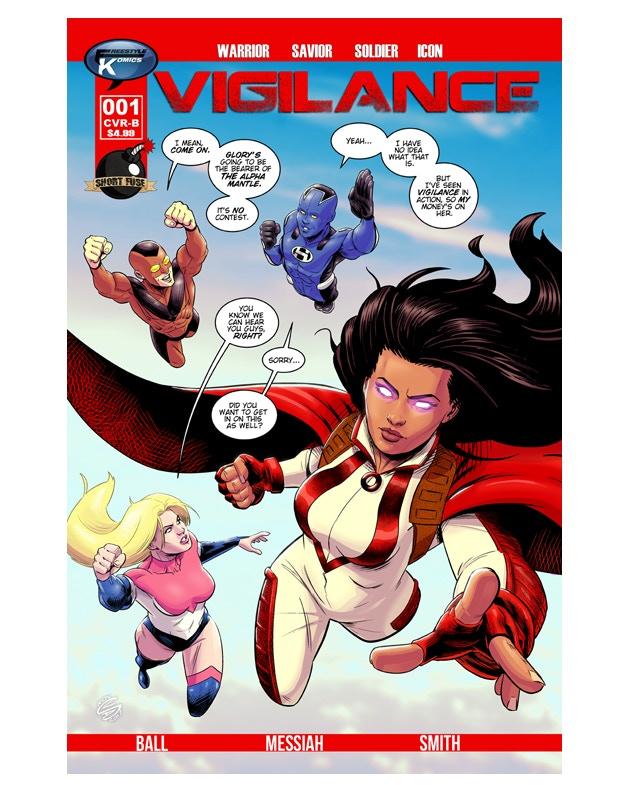 """Vigilance #1 CVR B """"Gritt Tie In"""" Variant by D.C. Stuelpner"""