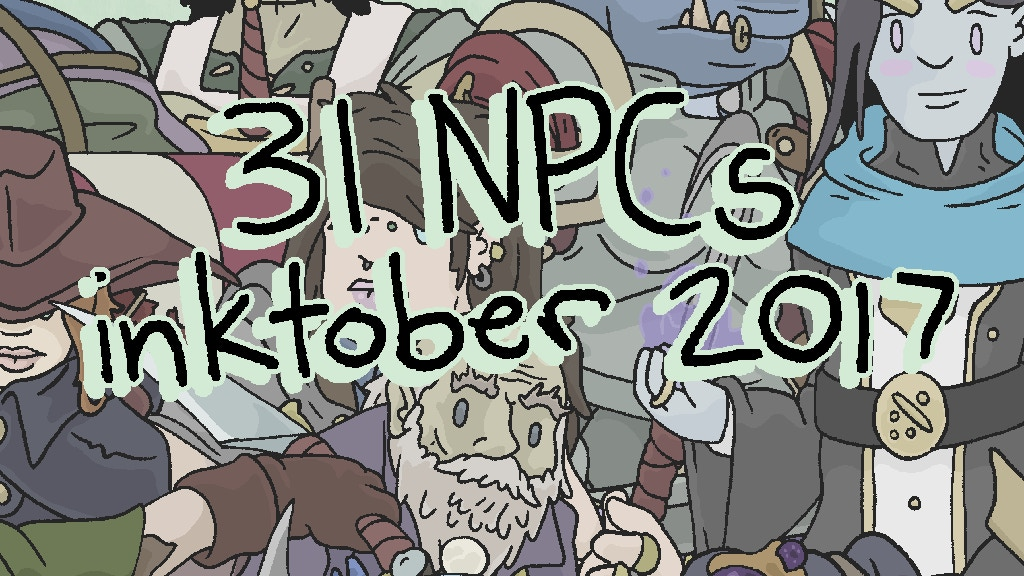31 NPC's Inktober 2017: A Book of Fantasy Characters project video thumbnail