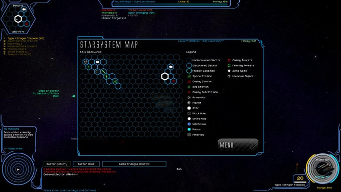 Star system map. This is one of multiple star systems that can explore, others can be accessed by Interstellar Jump Gates and occasionally by wormhole