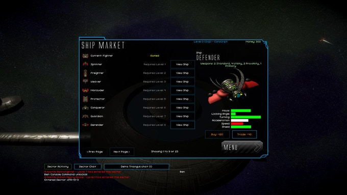 There are loads of ships available to play as. In the final game you wont be restricted to only your own races ships, but you will have to might have to travel to a station that sells both!