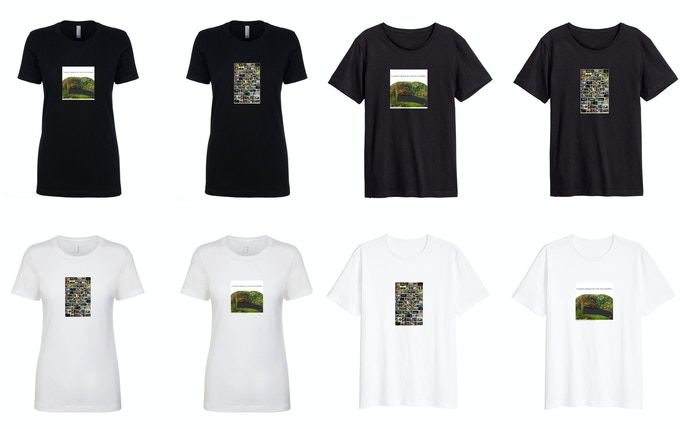 T-Shirt: Black or White (two different print options) & Donor List
