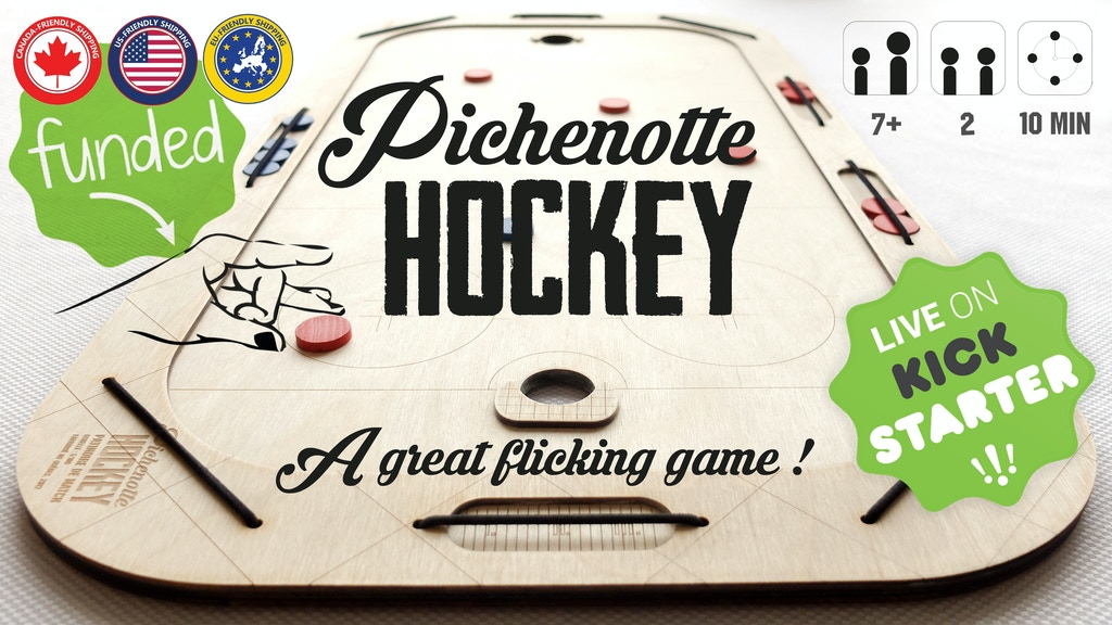 Pichenotte Hockey - A Great Wooden Flicking Game !
