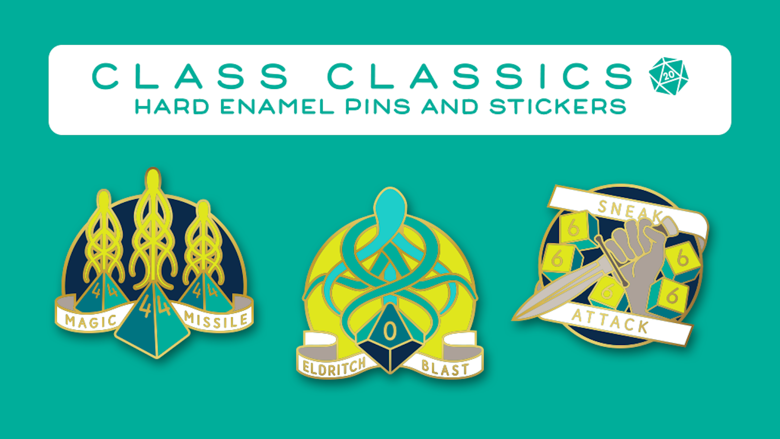 Class Classics - Dungeons and Dragons Hard Enamel Pins