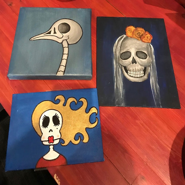 Handmade Skull Painting Set