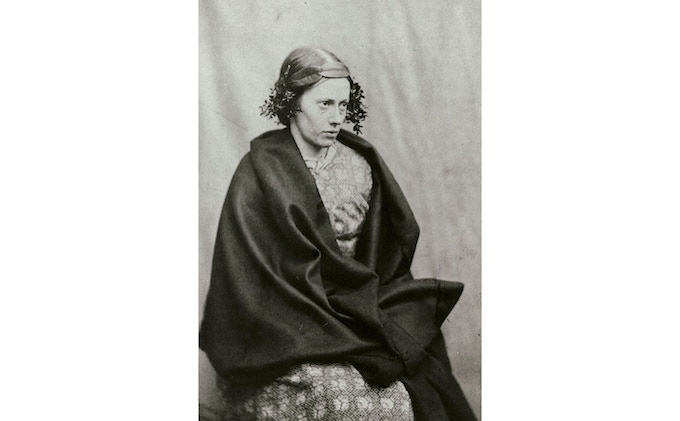 1850s photograph of a patient as Ophelia at Springfield County Asylum by Dr. Hugh Diamond