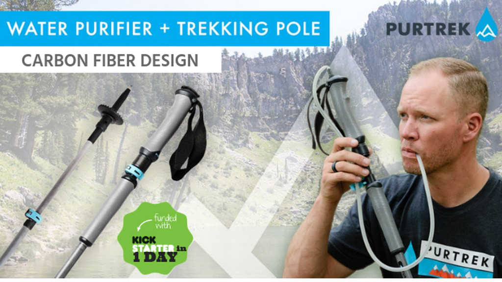 The World's FIRST Water Purifier & Trekking Pole | PURTREK