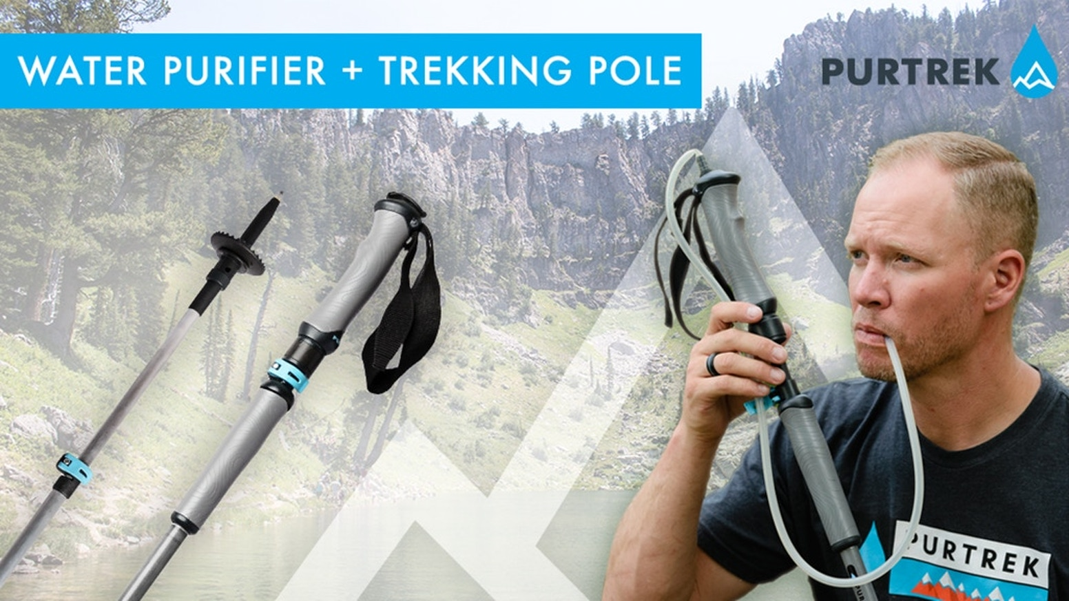 PURTREK combines two must-have items into one efficient tool. The ultimate hiking tool is here. A trekking pole and water filtration pump|Carry less weight & Never forget your filter again.