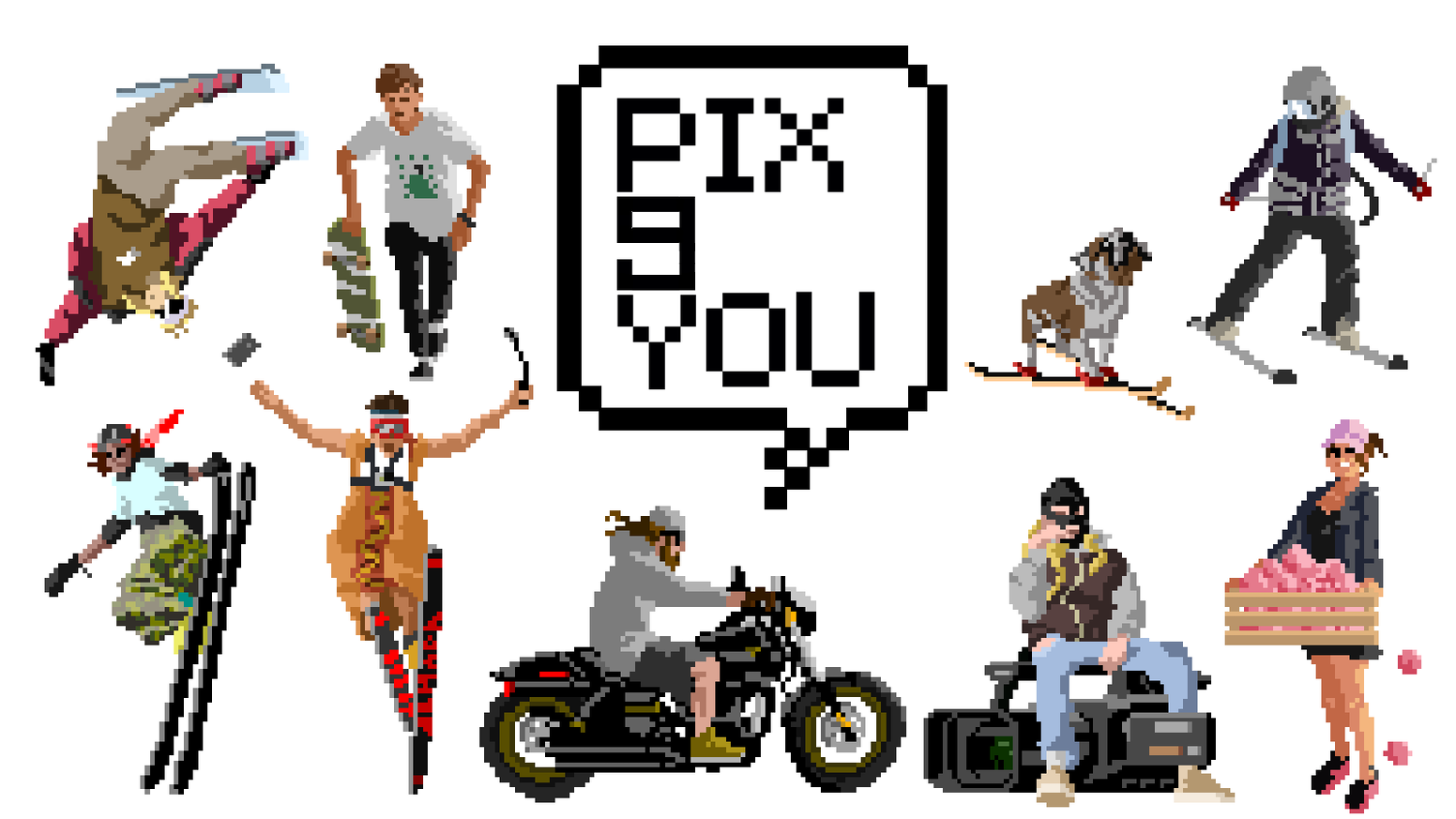 Pix9You : Create a 8-bit pixelated YOU! by Timesuppensdown