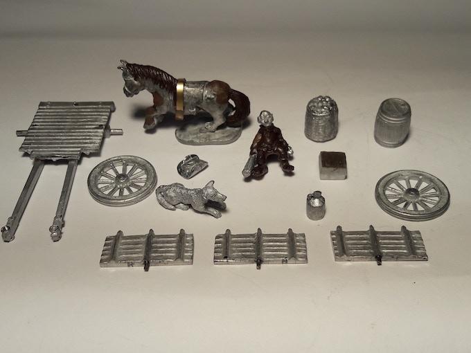 Halfling Provision Cart (set contents)