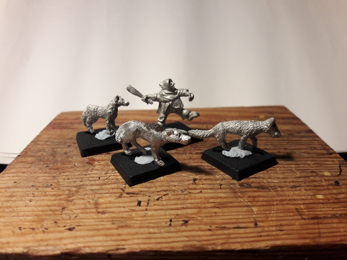 Halfling Militia with Guard Dogs