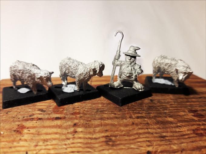 Halfling Shepherd & Sheep