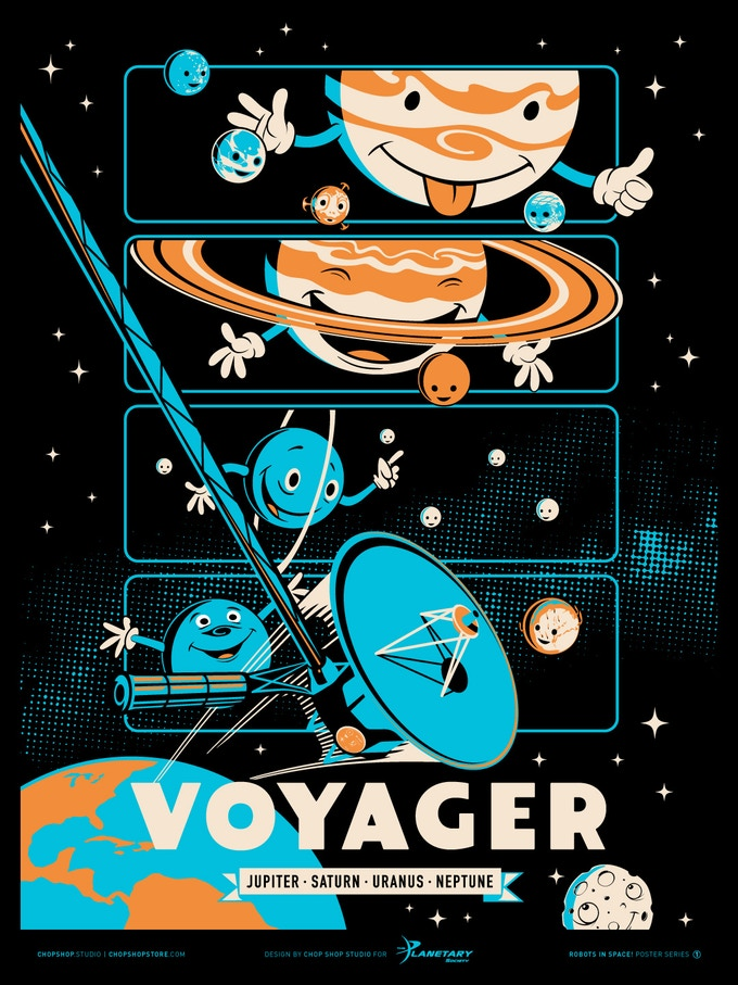 Poster #1: Voyager Screen Print