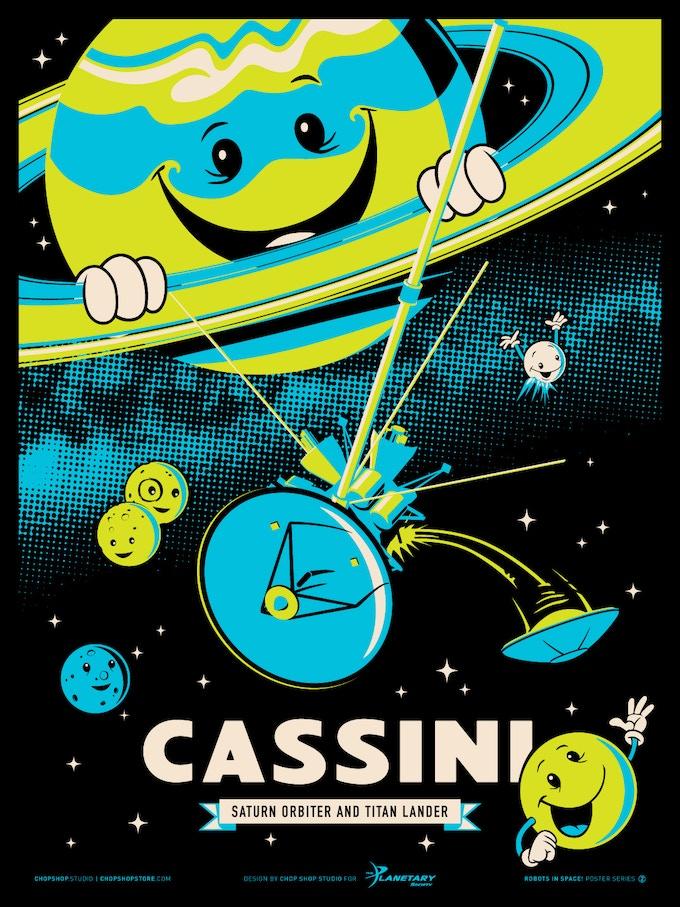 Poster #2: Cassini Screen Print